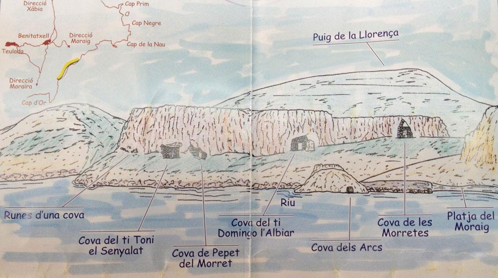 Coastal and inland walks around Javea Benitachell Costa Blanca